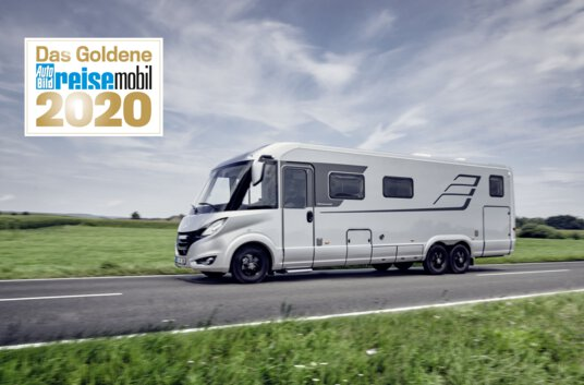"Press picture ""Goldenes Reisemobil Hymer B-Class MasterLine I 880"""
