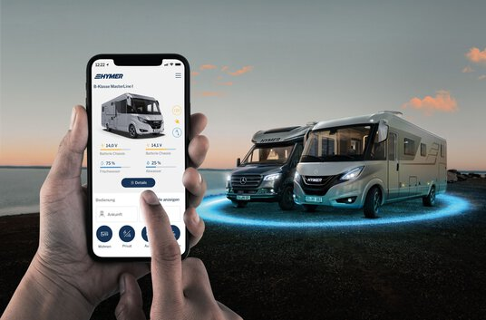 "Pressebild ""HYMER Connect App - Key Visual"""